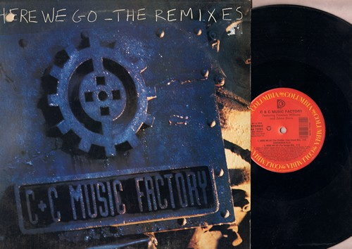 C & C Music Factory - Here We Go (4 different Extended Dance Club Tracks on 12 inch vinyl Maxi Single with picture cover) (PARTY FAVORITE!) - EX8/EX8 - Maxi Singles