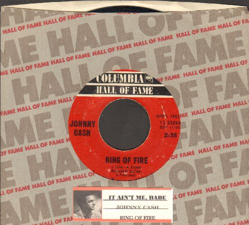 Cash, Johnny - It Ain't Me, Babe/Ring Of Fire (douible-hit re-issue with Columbia company sleeve and juke box label) - EX8/ - 45 rpm Records