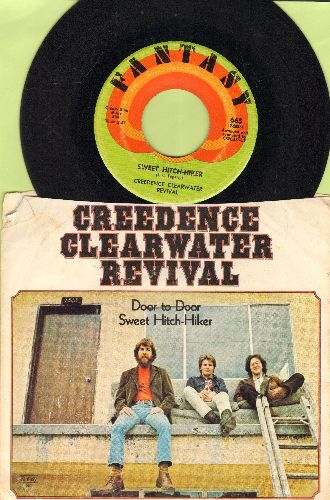 Creedence Clearwater Revival - Sweet Hitch-Hiker/Door To Door (with picture sleeve, original price sticker on picture sleeve) - EX8/VG6 - 45 rpm Records