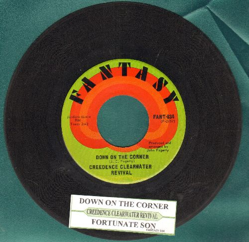 Creedence Clearwater Revival - Down On The Corner/Fortunate Sun (with juke box label) - EX8/ - 45 rpm Records