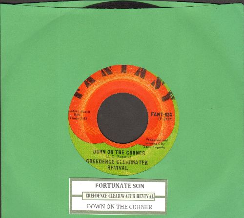 Creedence Clearwater Revival - Fortunate Son/Down On The Corner (with juke box label) - VG7/ - 45 rpm Records