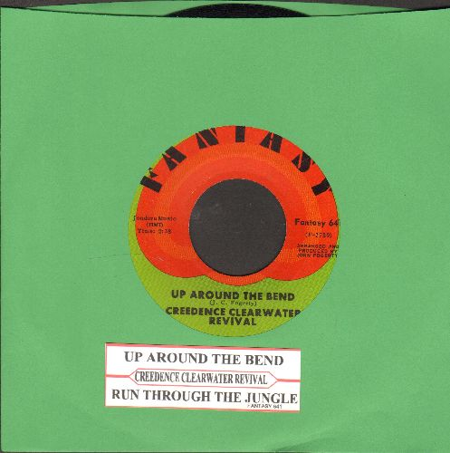 Creedence Clearwater Revival - Up Around The Bend/Run Through The Jungle (with juke box label) - NM9/ - 45 rpm Records