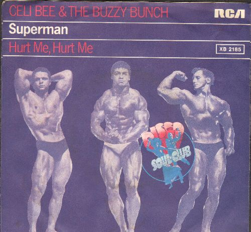 Beem Celi & The Buzzy Bunch - Superman/Hurt Me, Hurt Me (German Pressing with picture sleeve, wol) - EX8/ - 45 rpm Records