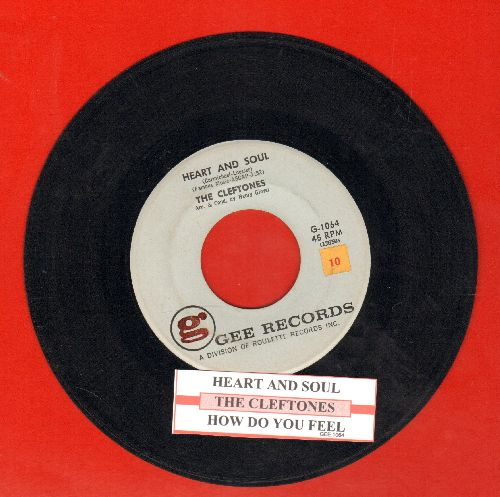 Cleftones - Heart And Soul/How Do You Feel (with juke box label) - EX8/ - 45 rpm Records