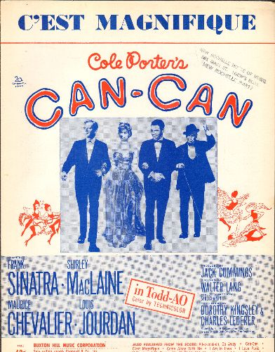Porter, Cole - C'est Magnifique - Vintage SHEET Music for the Cole Porter Classic featured in film -Can-Can- (woc) - EX8/ - Sheet Music