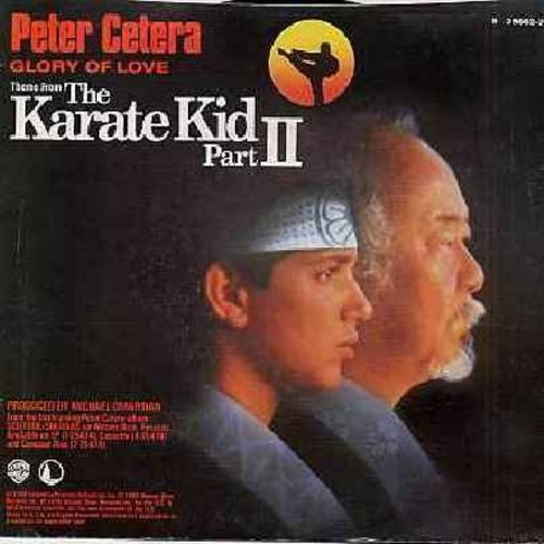Cetera, Peter - Glory Of Love (Theme From -The Karate Kid Part II-)/On The Line (with picture sleeve) - NM9/EX8 - 45 rpm Records