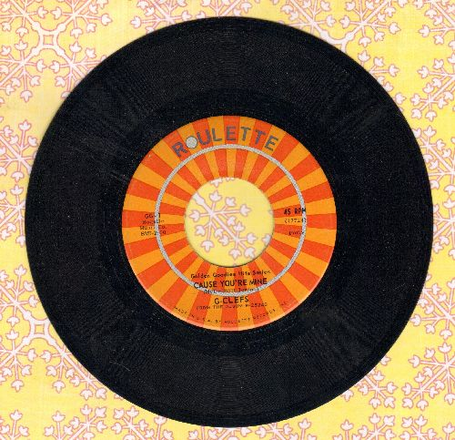 G-Clefs - Cause You're Mine/Symbol Of Love (authentic looking early double-hit re-issue) - EX8/ - 45 rpm Records