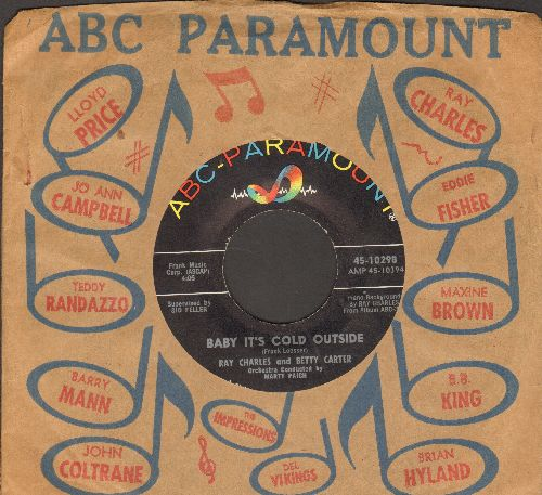 Charles, Ray & Betty Carter - Baby It's Cold Outside/We'll Be Together Again (with ABC-Paramount company sleeve) - NM9/ - 45 rpm Records