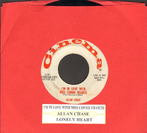 Chase, Allan - I'm In Love With Miss Connie Francis/Lonely Heart (DJ advance pressing with juke box label) - EX8/ - 45 rpm Records