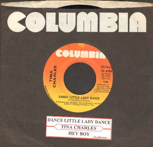 Charles, Tina - Dance Little Lady Dance/Hey Boy (Canadian Pressing with juke box label and Columbia company sleeve) - EX8/ - 45 rpm Records