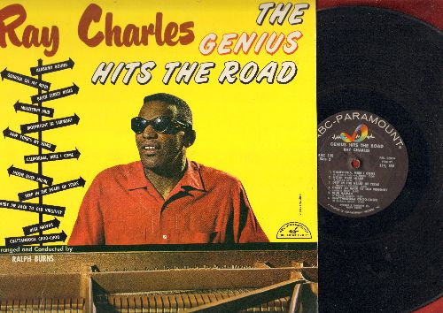 Charles, Ray - The Genius Hits The Road: Georgia On My Mind, California Here I Come, Deep In The Heart Of Texas, Blue Hawaii, Basin Street Blues (Vinyl MONO LP record) - EX8/EX8 - LP Records
