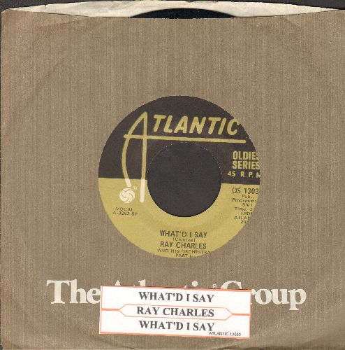 Charles, Ray - What'd I Say (Parts 1 + 2) (reissue with juke box label and Atlantic company sleeve) - EX8/ - 45 rpm Records