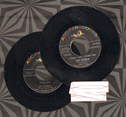 Charles, Ray - 2 for 1 Special: I Can't Stop Loving You/Crying Time (2 vintage first issue 45rpm records for the price of 1! - Shipped in plain white paper sleeves with 3 blank juke box labels) - EX8/ - 45 rpm Records