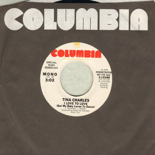Charles, Tina - I Love To Love (But My Baby Just Loves To Dance) (double-A-sided DJ advance pressing) - M10/ - 45 rpm Records