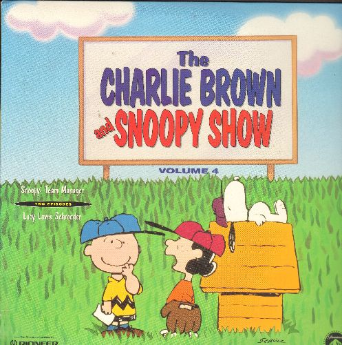Charlie Brown & Snoopy Show - The Charlie Brown & Snoopy Show Vol. 4: Snoopy Team Manager/Lucy Loves Schroeder - Emmy Winning Series on LASERDISC (This is a LASERDISC, NOT any other kind of media!) - NM9/EX8 - LaserDiscs