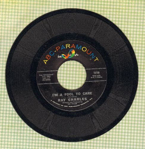 Charles, Ray - I'm A Fool To Care/Love's Gonna Live Here  - EX8/ - 45 rpm Records