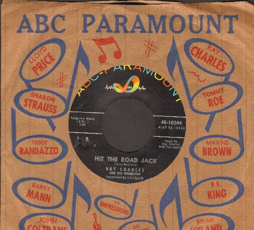 Charles, Ray - Hit The Road Jack/The Danger Zone (with ABC-Paramount company sleeve) - VG7/ - 45 rpm Records