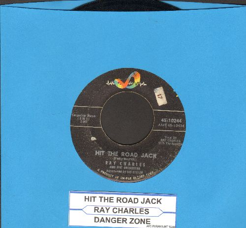 Charles, Ray - Hit The Road Jack/The Danger Zone (with juke box label) - VG7/ - 45 rpm Records