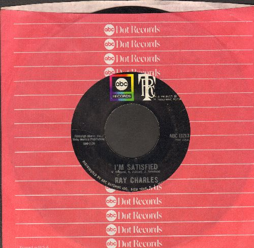 Charles, Ray - I'm Satisfied/Let Me Love You (with ABC company sleeve) - NM9/ - 45 rpm Records