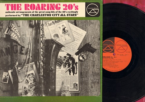 Charleston City All-Stars - The Roaring 20s: Barney Google, California Here I Come, I'm Looking Over A Four-Leaf Clover, Diga Diga Doo (vinyl MONO LP record) - NM9/EX8 - LP Records