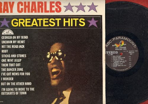 Charles, Ray - Greatest Hits: Hit The Road Jack, I Can't Stop Loving You, Georgia On My Mind, Ruby, Unchain My Heart (vinyl LP record, RARE Stereo Pressing!) - EX8/EX8 - LP Records