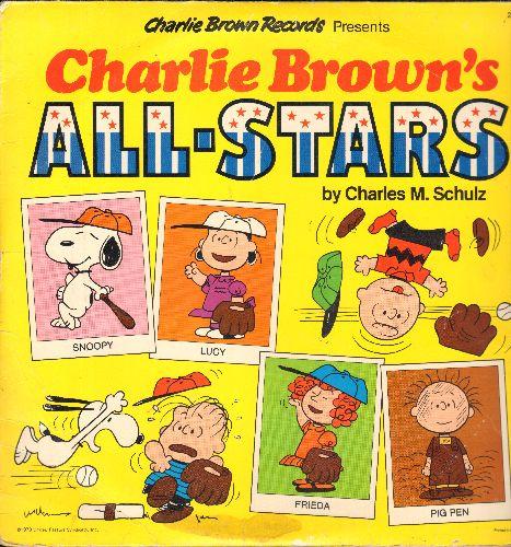 Charlie Brown's All-Stars - Charlie Brown Records presents -Charlie Brown's All-Stars- by Charles M. Schulz (vinyl LP record) - VG7/VG7 - LP Records