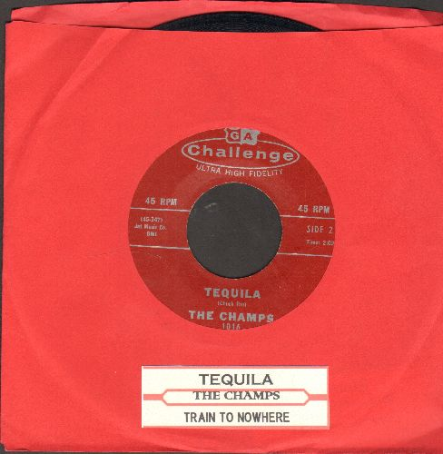 Champs - Tequila/Train To Nowhere (with juke box label) - NM9/ - 45 rpm Records