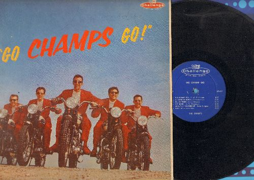 Champs - Go Chanps Go!: Tequila, Robot Walk, Lollipop, Sky High, El Rancho Rock, Just Walking In The rain (vinyl LP record, tape on cover) - EX8/VG6 - LP Records