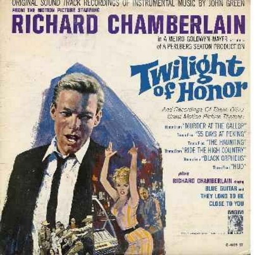 Chamberlain, Richard - Twilight of Honor: Featuring 2 Richard Chamberlain songs, Murder At The Gallop (IMPOSSIBLE TO FIND Miss Marple Movie Theme), The Haunting and others. Great RC cover pic! (mono) - NM9/EX8 - LP Records