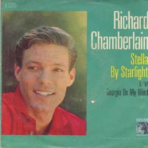 Chamberlain, Richard - Georgia On My Mind/Stella By Starlight (with picture sleeve) - NM9/VG7 - 45 rpm Records