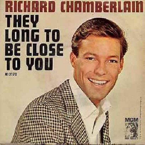 Chamberlain, Richard - They Long To Be Close To You/Blue Guitar (with juke box label) - NM9/VG7 - 45 rpm Records