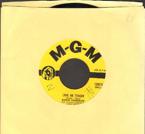 Chamberlain, Richard - Love Me Tender/All I Do Is Dream Of You (RARE DJ advance pressing) - EX8/ - 45 rpm Records