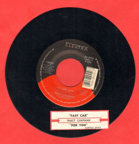Chapman, Tracy - Fast Car/For You (with juke box label) - EX8/ - 45 rpm Records
