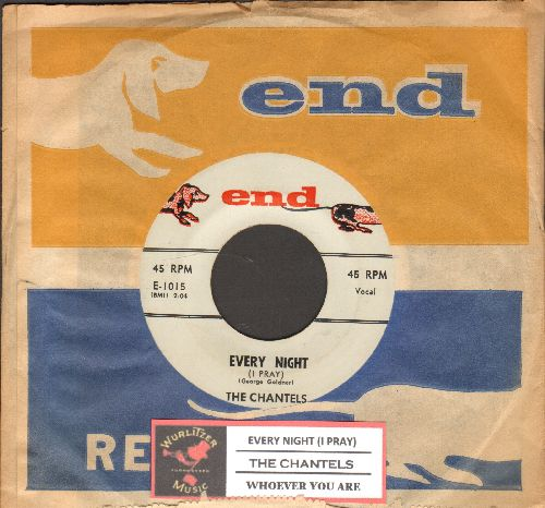 Chantels - Every Night/Whoever You Are (white label! With juke box label and RARE End company sleeve) - EX8/ - 45 rpm Records