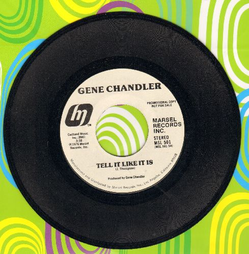 Chandler, Gene - Tell It Like It Is (double-A-sided DJ advance pressing wiyh MONO and STEREO version) - NM9/ - 45 rpm Records