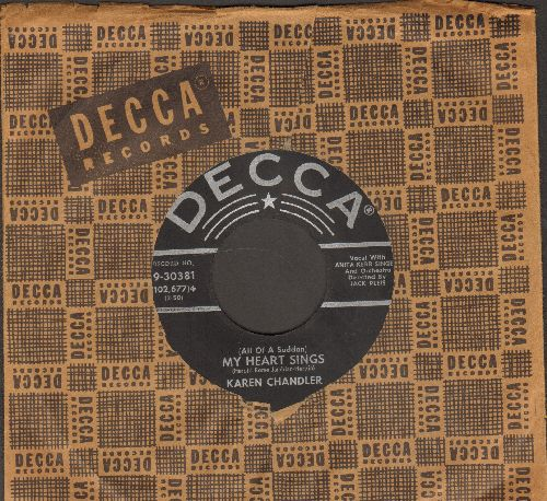 Chandler, Karen & Jimmy Wakely - (All Of A Sudden) My Heart Sings/(Don't Stop, Don't Stop) Tell Me More (with vintage Decca company sleeve) - EX8/ - 45 rpm Records