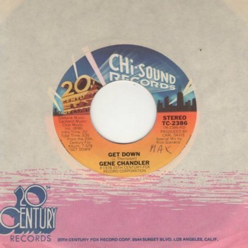 Chandler, Gene - Get Down/I'm The Traveling Kind (with 20th Century Fox company sleeve) - NM9/ - 45 rpm Records