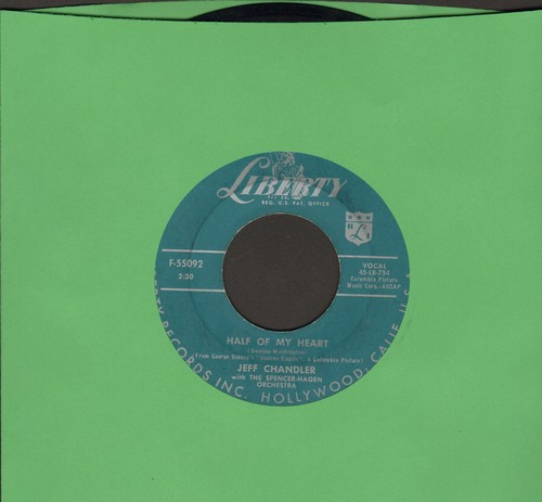 Chandler, Jeff - Half Of My Heart/Hold Me - VG7/ - 45 rpm Records