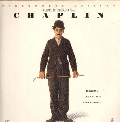 Chaplin - Chaplin - LASER DISC version of the Charlie Chaplin Story starring Robert Downey Jr.. Widescreen Edition on 2 discs.  (THESE ARE LASER DISCS, NOT ANY OTHER KIND OF MEDIA!) - NM9/EX8 - Laser Discs
