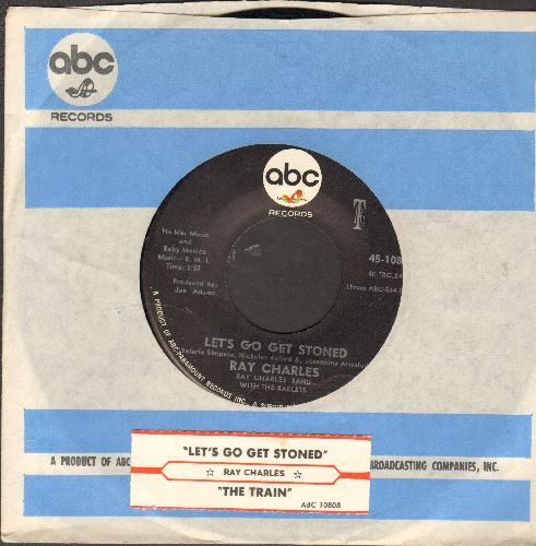 Charles, Ray - Let's Go Get Stoned/The Train (with juke box label and company sleeve) - NM9/ - 45 rpm Records