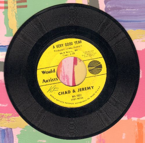 Chad & Jeremy - A Very Good Year/What Do You Want With Me (minor wol) - EX8/ - 45 rpm Records