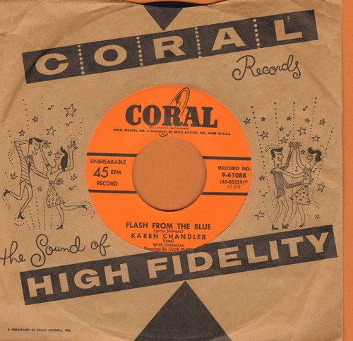 Chandler, Karen - Flash From The Blue/Why (with Coral company sleeve) - EX8/ - 45 rpm Records