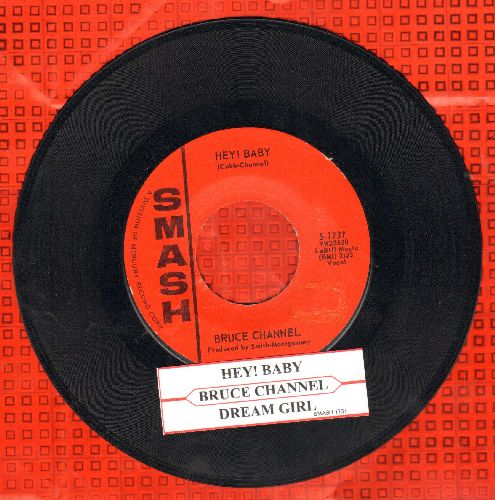Channel, Bruce - Hey! Baby/Dream Girl (with juke box label) - VG7/ - 45 rpm Records