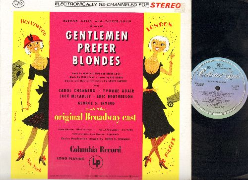 Channing, Carol - Gentlemen Prefer Blondes - Original Broadway Cast Recording, includes Carol Channing's signature song -Diamonds Are A Girl's Best Friend- (vinyl STEREO LP record, re-issue of vintage recordings) - NM9/VG7 - LP Records