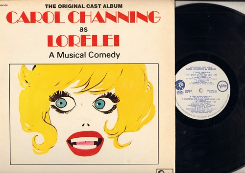 Channing, Carol - Carol Channing As Lorelei - A Musical Comedy: Diamonds Are A Girl's Best Friend, Bye Bye Baby, A Little Girl From Little Rock (Vinyl STEREO LP record, DJ advance pressing) - M10/EX8 - LP Records