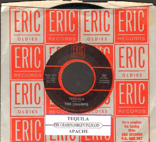 Champs - Tequila/Apache (by Jorgen Ingmann on flip-side) (with juke box label and Eric company sleeve) - NM9/ - 45 rpm Records