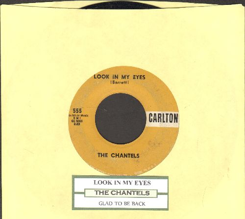 Chantels - Look In My Eyes/Glad To Be Back (with juke box label) - VG7/ - 45 rpm Records