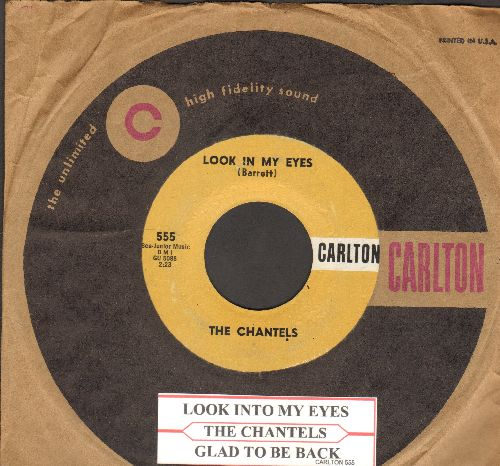 Chantels - Look In My Eyes/Glad To Be Back (with Carlton company sleeve and juke box label)) - EX8/ - 45 rpm Records