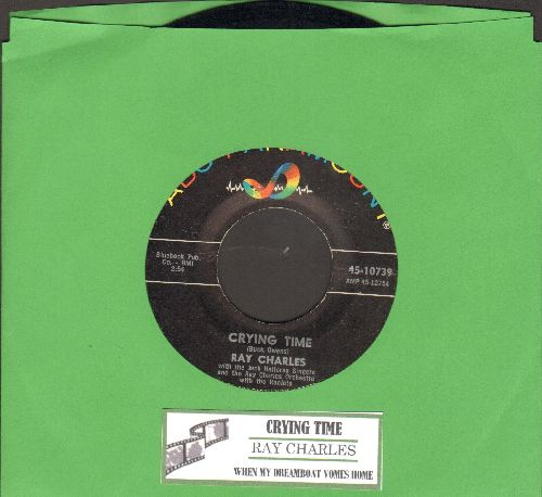 Charles, Ray - Crying Time/When My Dreamboat Comes Home (with juke box label) - EX8/ - 45 rpm Records