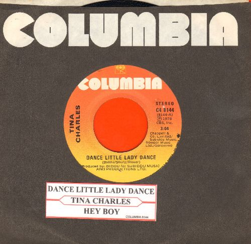 Charles, Tina - Dance Little Lady Dance/Hey Boy (Canadian Pressing with juke box label and Columbia company sleeve) - NM9/ - 45 rpm Records